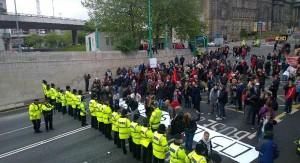 Manifestation anti austérité à Liverpool
