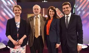 les quatre prétendants avant le débat