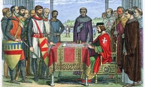Le roi Jean signe la Magna carta