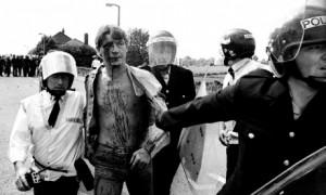 La répression policière à Orgreave a été particulièrement brutale