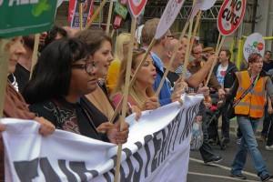 Diane Abbot dans les manifestations contre l'austérité