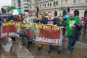 Len McCluskey (à gauche) et Jeremy Corbyn ont fait beaucoup de manifestations ensemble