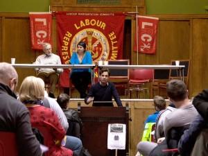Philippe Marlière lors de l'assemblée annuelle du Labour Representation Committee (l'aile gauche travailliste et syndicale) en 2013.
