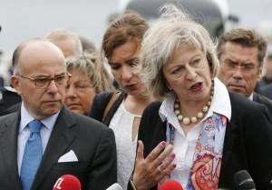 Theresa May à Calais