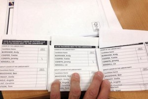 Labour leadership ballot paper