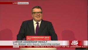 Tom Watson, nouveau deputy leader du Labour