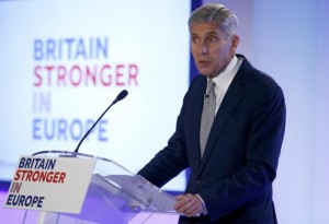 "Stuart Rose, leader de la campagne ""Britain stronger in Europe"""