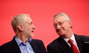 Le leader et Hilary Benn ont porté des vues strictement opposées