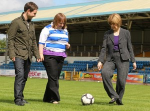 Nicola Sturgeon fan de foot