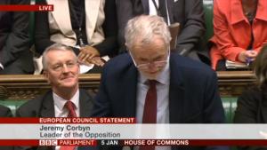 Le remaniement n'a pas empêché Corbyn d'affronter Cameron sur l'Europe