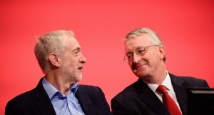 Jeremy Corbyn et Hilary Benn
