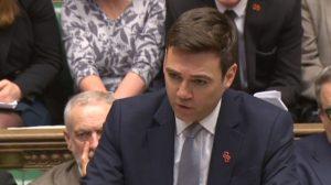 Andy Burnham lors des PMQs sur l'enquête Hillsborough