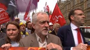 Corbyn avec les sidérurgistes