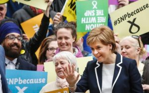 Nicola Sturgeon en campagne