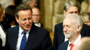 David Cameron et Jeremy Corbyn emmènent les MPs écouter le Queen's speech