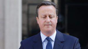 David Cameron présentant sa démission