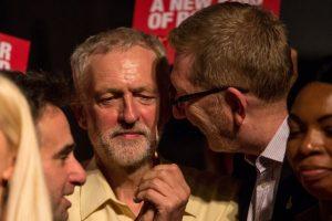 Corbyn et Len McCluskey, patron de Unite