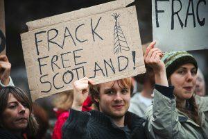 manifestation contre la fracturation hydraulique en Ecosse