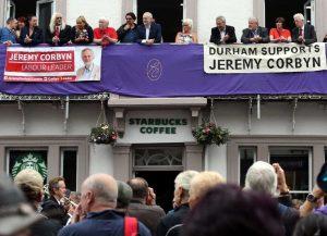 Corbyn au gala des mineurs de Durham
