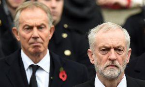 Jeremy Corbyn et Tony Blair