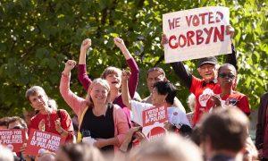 Les supporteurs de Corbyn