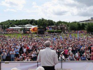 Jeremy Corbyn au rassemblement de Durham en 2015