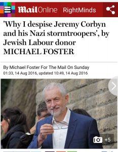 Michael Foster dénonce les troupes d'assaut nazies de Corbyn