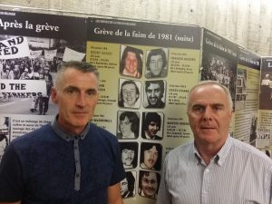 Declan Kearney, Secrétaire général du Sinn Fein, Raymond Mc Cartney, ancien gréviste de la faim du Block H