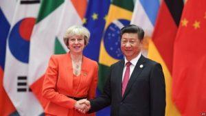 Theresa May a annoncé une période dorée pour les relations avec la Chine