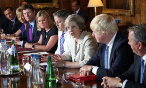 Le gouvernement britannique réuni le 31 août 2016